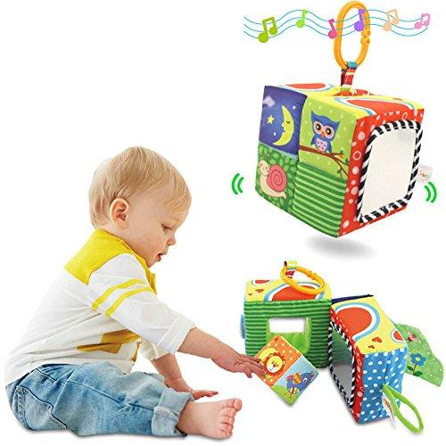TOLOLO Bébé cube hochet enfant jouets chiffon Soft éducation premiers blocs de construction jouet