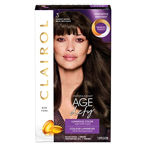 Clairol Age Defy Hair Coloring Tools, 3 Darkest Brown