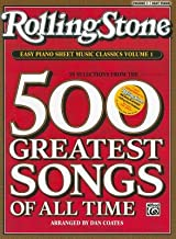 Rolling Stone Easy Piano Sheet Music Classics Volume 1( 39 Selections from the 500 Greatest Songs of All Time)[ROLLING STONE EASY PIANO S-V01][Paperback]