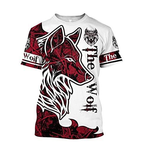 MAITONGG Herren Neuheit T-Shirts Animal Duck Coyote Jagdmuster Herren T-Shirt Kurzarm Casual