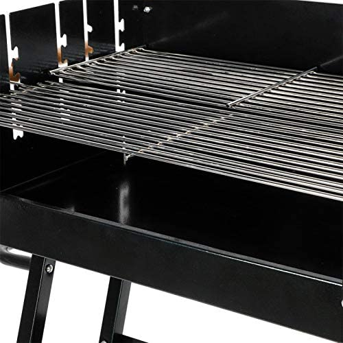 Grills Electrique d'Extérieur sans Fumée, Grill Electrique d'Extérieur Professionnelle 2 Roues Hauteur Réglable Grande Capacite pour 5 à 8 Personnes