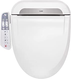 AQUATREND Advanced Electric Smart Bidet Toilet Seat - Self Cleaning Dual Nozzles, Rear Cleaning, Heated Toilet Seat with Warm Water/Air Dryer Temperature Controlled Elongated White 466×490×143mm