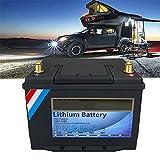 Batería Batería LiFePO4 De Ciclo Profundo De 12 V Batería Recargable De Fosfato De Hierro Recargable De 100 / 120Ah BMS Incorporado para El Sistema Solar Que Acampa del Barco del Carro De Golf RV