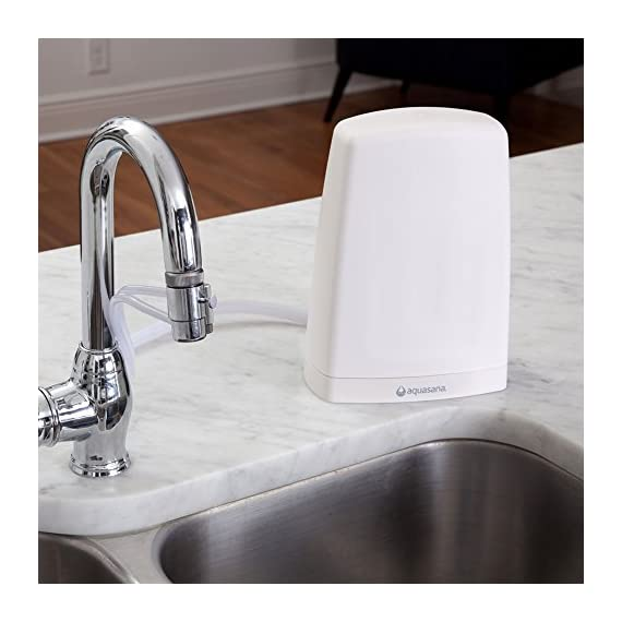 Aquasana AQ-4000W Countertop Drinking Water Filter System, White 2 If the faucet diverter valve does not fit, you will need to install one of the brass faucet adapters before attaching it.