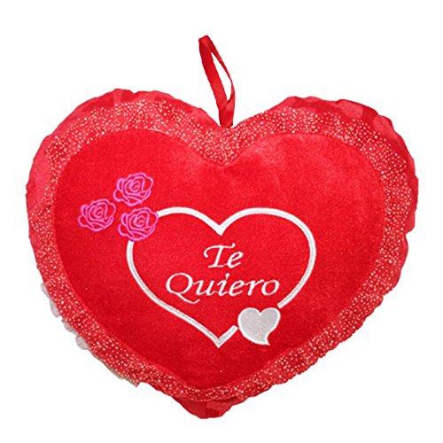 TOINSA Corazón de Peluche Grande Te Quiero