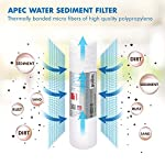 APEC Water Systems Filter-Set US Made Double Capacity Replacement Stage 1-3 for Ultimate Series Reverse Osmosis System… 11 APEC ULTIMATE high capacity pre-filter set is USA made and built to last 2x longer than other brands 1st stage polypropylene sediment filter to remove dust, particles, and rust 2nd & 3rd stage extruded carbon block filters to remove chlorine, taste & odor