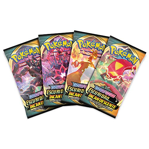 Booster Pokémon Espada e Escudo 3 Escuridão Incandescente, Modelos variados, Um pacote