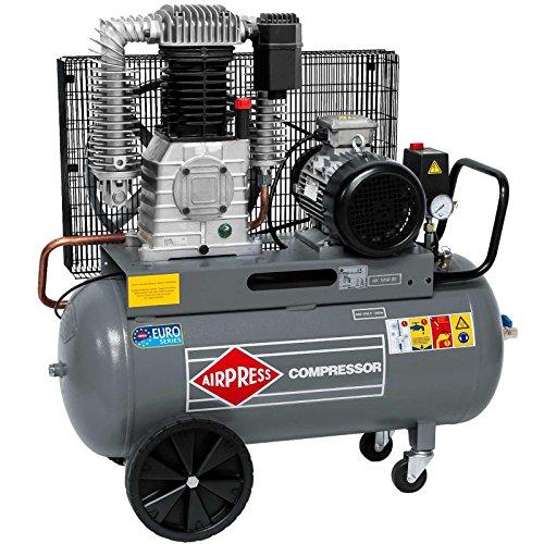 Airpress® ölgeschmierter Druckluft-Kompressor HK 1000-90 7,5 PS | 5,5 kW 11 bar 90 Liter Kessel 400 Volt) großer Kolben-Kompressor HK 1000-90
