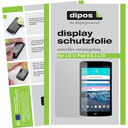 dipos I 2X Schutzfolie matt kompatibel mit LG G Pad 2 8.3 LTE Folie Bildschirmschutzfolie