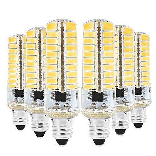 Bombillas BA15D E11 E17 G9 G4 LED Silicone Light 5730 SMD 80LED Lámpara de ahorro de energía regulable 7W 2700k Las bombillas LED pueden usarse en la lámpara de la sala de estar AC110V Blanco cálido 6