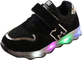 B/éb/é Fille Gar/çon Casual Respirant Baskets Semelle Souple Anti-d/érapante L/ég/ères Lumineux Chaussures de Sport en Plein Air LABIUO B/éb/é Chaussures LED Baskets Sport