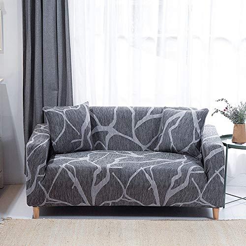 Fundas de sofá Estampadas geométricas para Sala de Estar Fundas elásticas elásticas Protectoras de Muebles Fundas de sofá de Esquina, Color 29,2, plazas 145,185cm