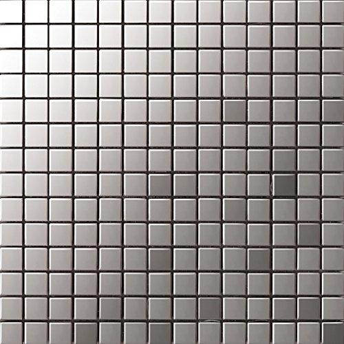 Art Deco metallo mosaico acciaio inossidabile Mosaico muro300*300mm--Cucina Backsplash/Parete da bagno/decorazione domestica(SA003)