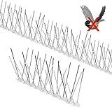Yodeace Pinchos Antipalomas, 3.5 Metros de Acero Inoxidable Anti Paloma Defensa de Aves Repelente...