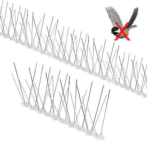 Yodeace Pinchos Antipalomas, 3.5 Metros de Acero Inoxidable Anti Paloma Defensa de Aves Repelente Disuasivo Picos Clavos para el Hogar Jardín Valla Techo Ventana Aleros Balcones