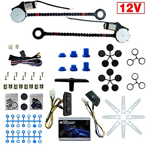 RONSHIN 12V Auto Auto Universal 2-Doors Elektrische Fensterheber-Kits Schalterbaum