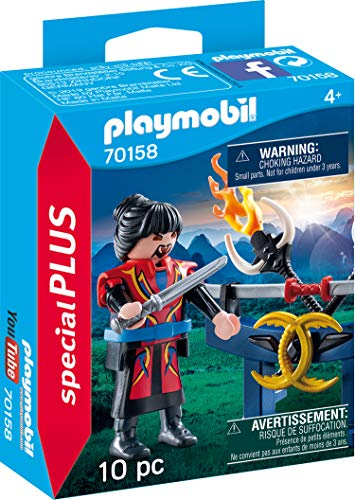 PLAYMOBIL 70158 Special Plus Asia Guerrero, Multicolor, color carbón , color/modelo surtido