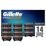 Gillette ProGlide Rasierklingen, 14 Ersatzklingen für Nassrasierer Herren mit 5-fach Klinge