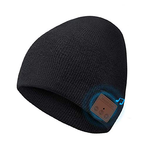 Bluetooth Beanie Hat, Bluetooth 5.0 Music Running Hat Actualizado, Auriculares Inalámbricos Altavoces...