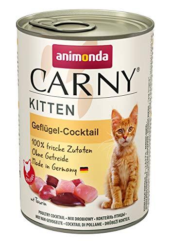 animonda Carny Kitten Katzenfutter, Nassfutter Katzen bis 1 Jahr, Geflügel-Cocktail, 6 x 400 g