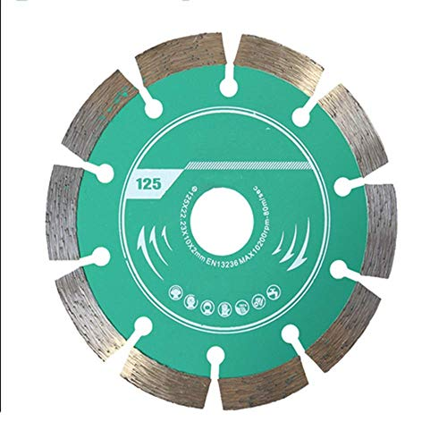 outingStarcase Hoja de Piedra Sierra for hormigón, Sierra Rueda de paletas Pieza de Corte de 125 x 22,2 mm for el mármol de Cemento Que Forma la ingeniería del azulejo Herramientas industriales