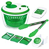 Iseason Salad Spinner, Large Vegetable Washer Dryer with Bowl, Lettuce...