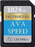 Scheda di memoria SDXC ad alta compatibilità 1024 GB 1 TB UHS-I Scheda di memoria SD V60, U3, Max 150 MB/S ad alta velocità per fotocamere (1024 GB)