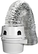 Dundas Jafine TDIDVKZW Indoor Dryer Vent Kit with 4-Inch by 5-Foot Proflex Duct, 4 Inch, White