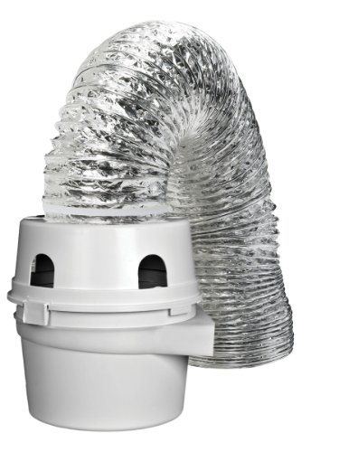 Dundas Jafine TDIDVKZW Indoor Dryer Vent Kit with 4-Inch by 5-Foot Proflex Duct, 4...