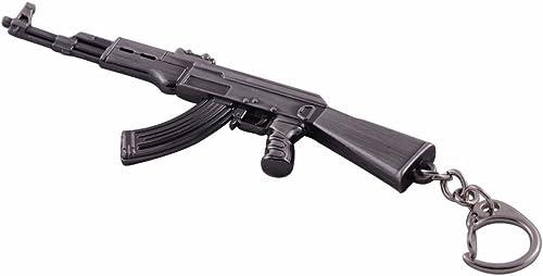 2021 Mallofusa Miniature Gray discount Metal Ak47 Assault Rifle Gun Model Keychain Bag new arrival Accossories Pendant sale