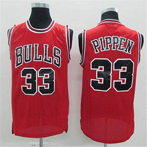 Herren Trikot Bulls #33 Pippen Sommer Trikots Basketball Uniform Stickerei Tops Basketball Anzug Trikots