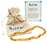 Best Baltic Amber Teething Necklaces - Baltic Amber Necklace (Unisex) (Honey) - Knotted Between Review