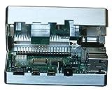 MANOUII Carcasa de aluminio pasivo para Raspberry Pi 4, no requiere ventilador, aluminio Kodi Retropie