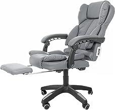 Cadeira Presidente Escritório Com Apoio Para Os Pés Kelter F12 Cinza