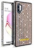 Glitter Bling Ultra Thin TPU Case for Samsung Galaxy Note 10 + Plus Sparkle Crystal Diamond Full Cover Girl Women Phone Case Fit Note10Plus Note10+ (Rose Gold)