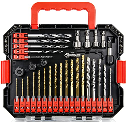 wesleydrill Impact Driver Bits and Screwdriver Bits Set 33 Pcs Hex Shank Drill Bit Set Fit for Home DIY and General Building/Engineering Use