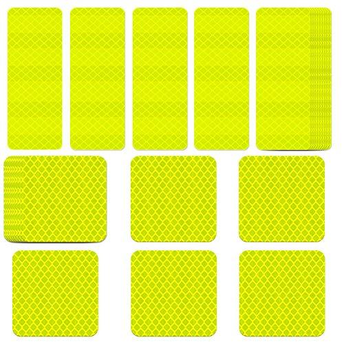 WENTS Adhesivos Reflectantes 20PCS Impermeable Alta Intensidad Pegatinas Luminosas Safe reflexivas para automóviles, Motocicletas, Bicicletas, trineos y Otros requisitos de Seguridad