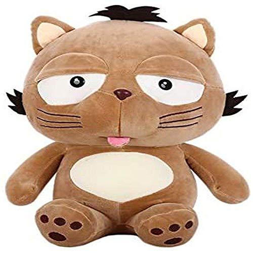JKLI Plüschtier 35 cm Katzenplüschtier Tier braune Katze Plüschtierpuppe weiches Valentinstagsgeschenk for Freundin Wangwu