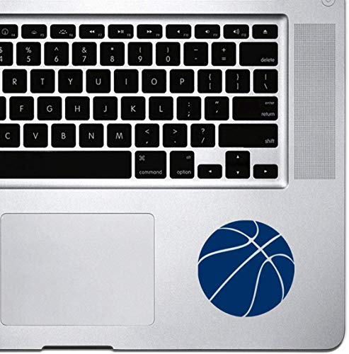 DKISEE Decal Sticker Laptop Vinyl Decal Basketball Simple Sticker for Macbook Pro, Chromebook, and Laptops Navy 8 inch