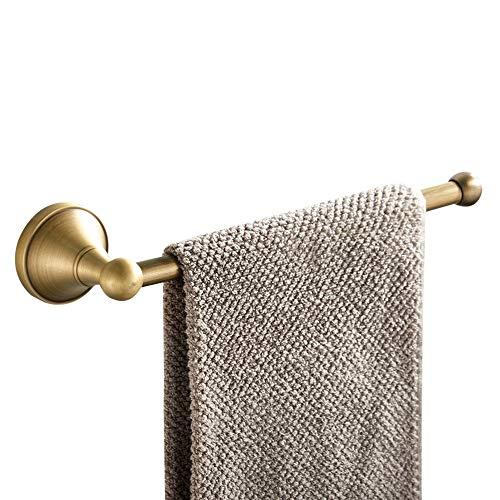WOMAO Handtuchhalter Messing Antik Retro Wandmontage Handtuchring Vintage Duschwand für Badezimmer Dusche Küche Kurze Handtuchstange