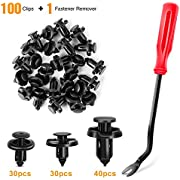 GOOACC 100PCS 7mm 8mm 10mm Compatible with Subaru Push Type Retainer Fasteners Rivets Clips OEM Upgrade for 90914-0007, 90913-0067 & 90914-0051 + Bonus Fastener Remover