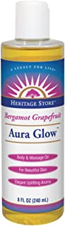 NaturalCare Aura Glow Bergamot Grapefruit | Body & Massage Oil | For Beautiful Skin & Hair | Moisturizer, Aftershave, Lotion & Bath Oil | 8 FL OZ