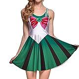 BOMBAX Girls Sailor Moon Skater Dress Stretchy Anime Cosplay Costume Mini Skirt