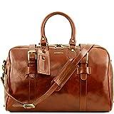 Tuscany Leather TL Voyager Reisetasche aus Leder mit Schnallen - Gross Honig