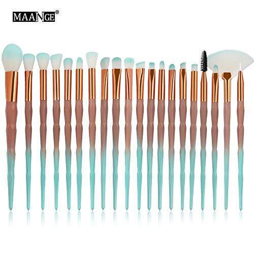 Biubo Pinceau de Maquillage, 20PCS Make Up Foundation Eyeliner Eyeliner Blush Cosmétique Pinceaux Correcteur (B)