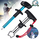 Easy Fish Hook Remover Squeeze-Out Fish Hook Separator Tools and Fishing Pliers Fish Lip Gripper Holder, Aluminum 6.6in Portable Dehooker Easy Reach Fishing Hooks Extractor Fishing Tool