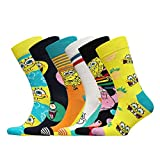 Happy Socks Geschenkbox SPONGEBOB SQUAREPANTS 6-PACK GIFT BOX XBOB10-0100 Mehrfarbig, Size:41-46