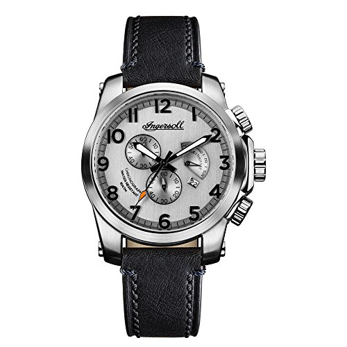 Ingersoll Men's The Manning Quartz Watch with Cream Dial andBraun Leather Strap...
