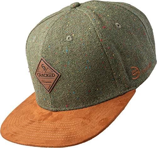 Cracked   Snapback Cap   Dark Brown - Forrest   Wolle-Polyester-Mix   Herren   Frauen   Unisex   One Size