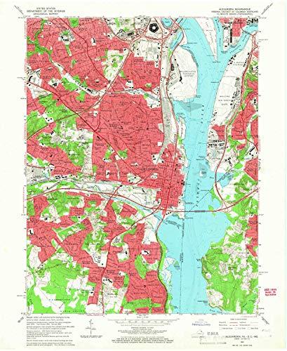 YellowMaps Alexandria VA topo map, 1:24000 Scale, 7.5 X 7.5 Minute, Historical, 1965, Updated 1966, 27 x 22.1 in - Paper